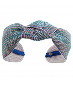Hirondelle Colored Stitch Wide Center Knot Headband
