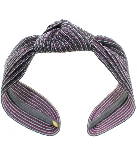 Urchin Colored Stitch Wide Center Knot Headband