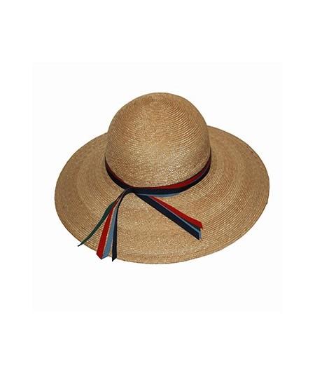 Navy Combo Summer Big Brim Hat by Jennifer Ouellette