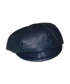 Light Navy Leather Cap
