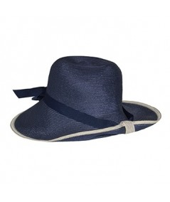 Nvy with Ivory Straw Hat