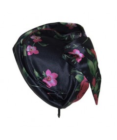 Silk Print Headpiece with Back Side Detail
