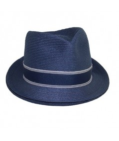 Colored Stitch Fedora with Vintage Band