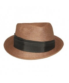 Men's Colored Stitch Hat with Wide Grosgrain Band
