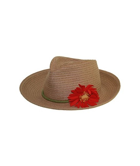 Straw Hat Trim with Flower
