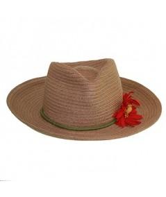Straw Hat Trim with Flower