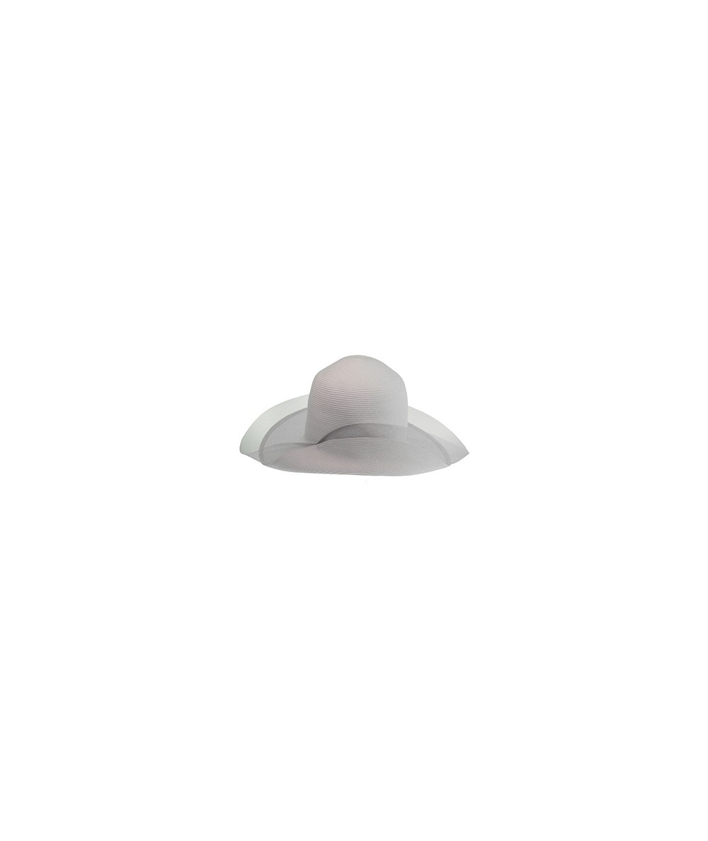 Straw Hat with Horse Hair Edge and Side Divot