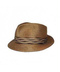 Colored Stitch Fedora Hat with Vintage Band
