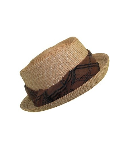 Milan Straw Hat with Silk Print Band