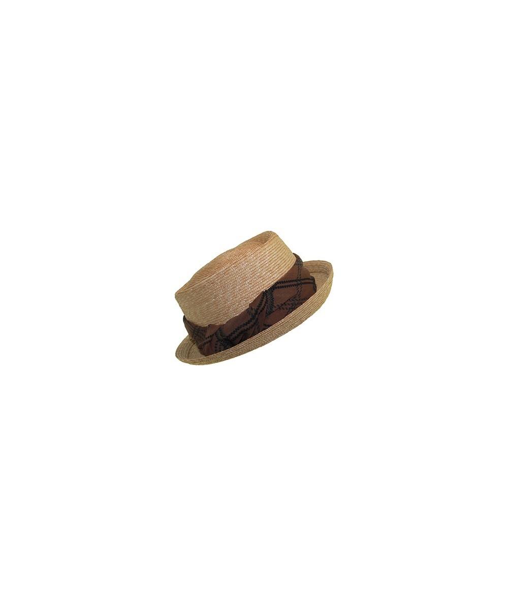 Milan Straw Hat with Silk Print Band