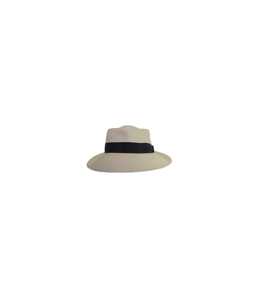 Straw Hat with Grosgrain Band