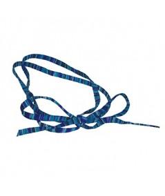 Blue Mix Raw Silk Long Ties Headband