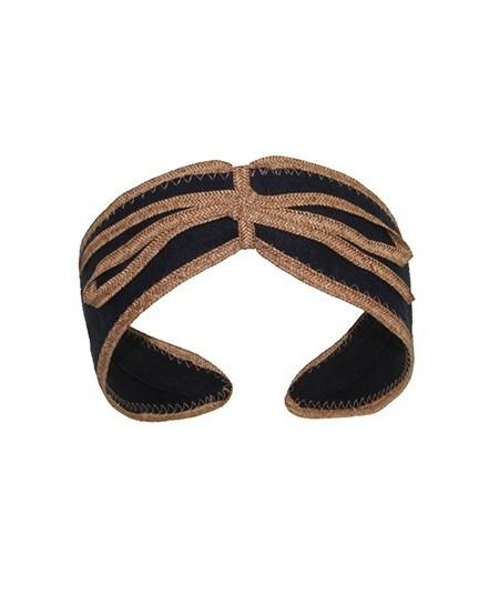 Linen Valentine with Straw Toyo Bow Turban