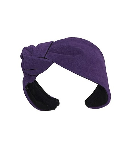 Purple Suede Lana Turban
