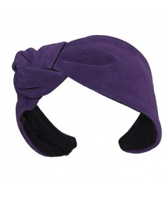 Purple Suede Lana Turban