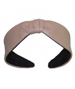 Wicker Leather Center Divot Headband