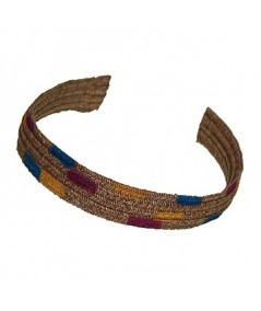 Narrow Hand Painted Straw Headband