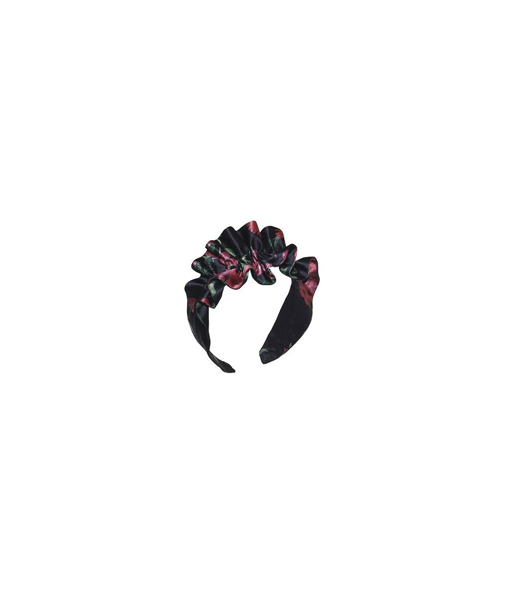 Silk Print Ruffle Headband