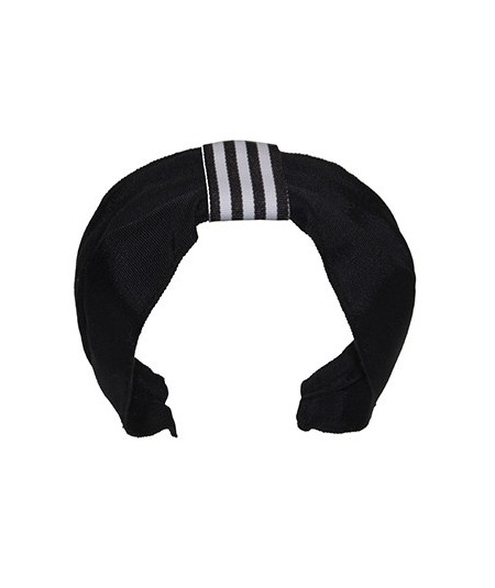 Grosgrain Black and White Turban