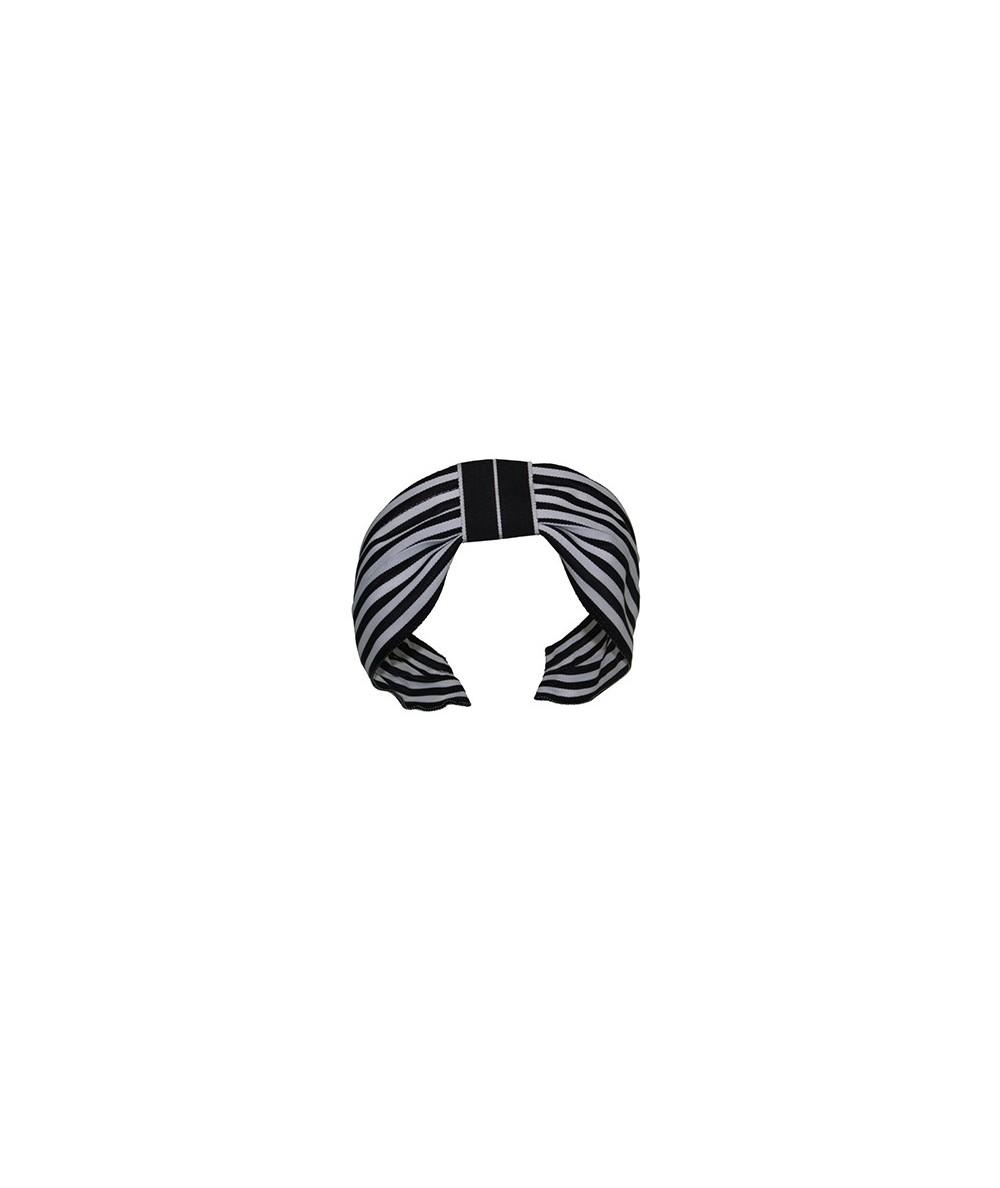 Grosgrain Stripe Black and White Divot