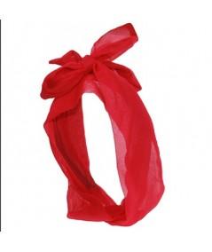 Cherry Silk Long Ties Headband