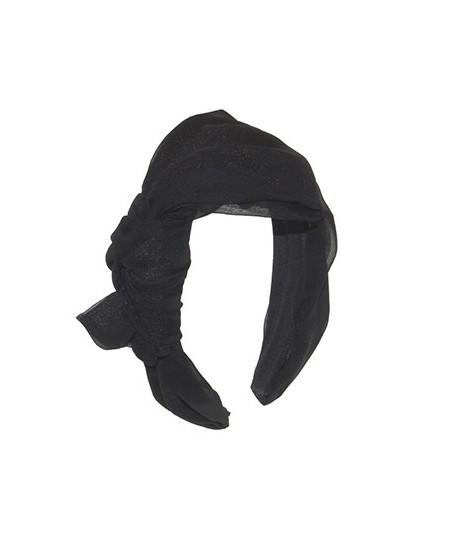 Black Silk Side Bow Headband