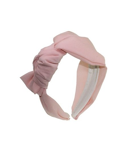 Pale Pink Silk Side Bow Headband