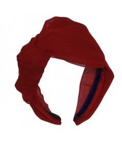 Red Silk Side Bow Headband