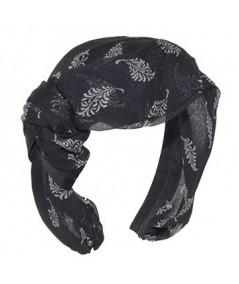 Serenade Silk Print Draped Headband