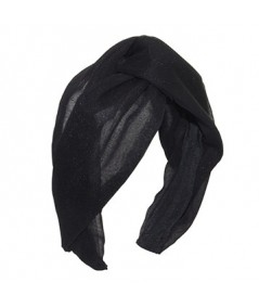 Black Silk Chiffon Turbanista Headpeice
