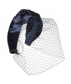 Satin Turban with Face Veil