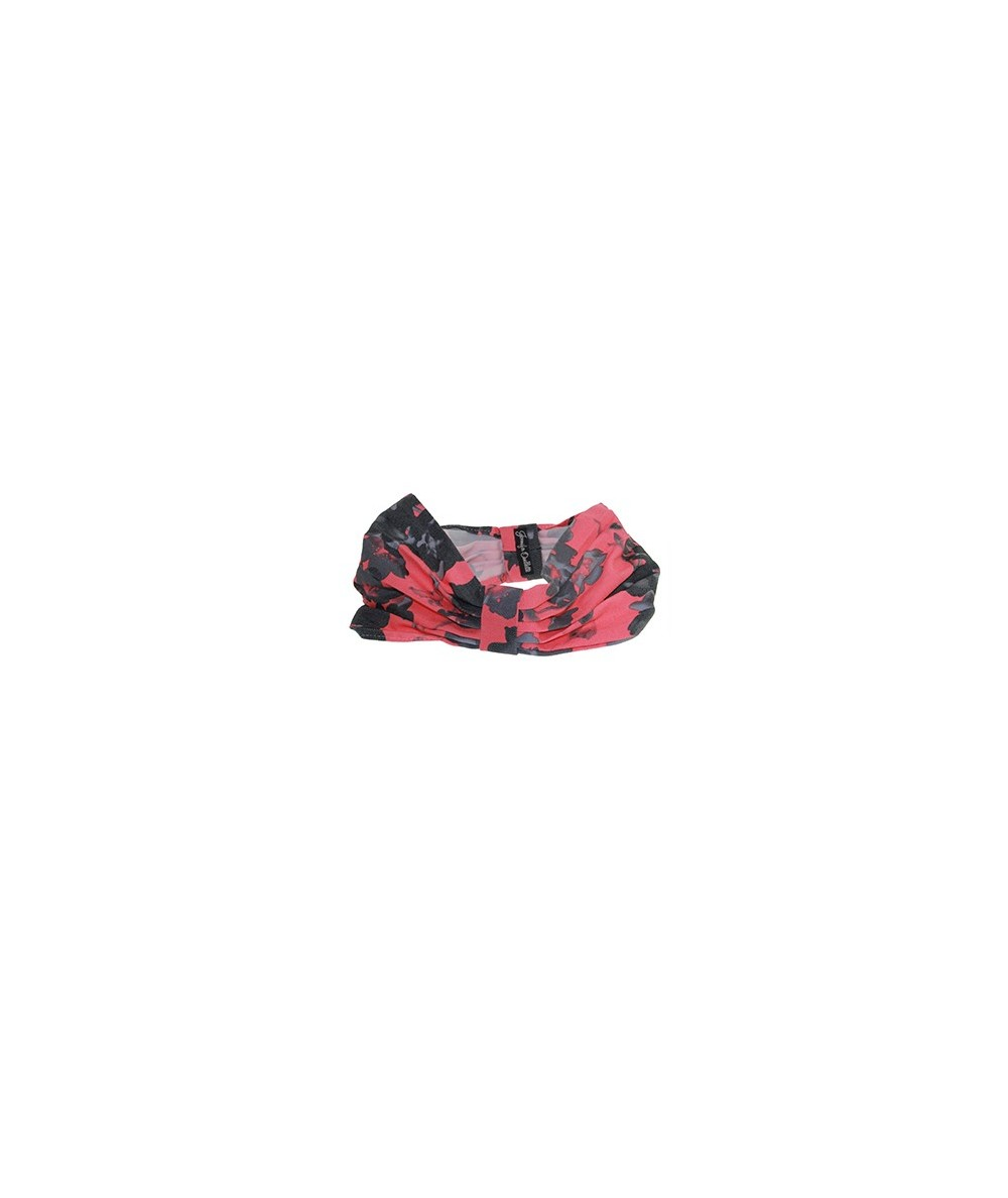 Coral Floral Cotton Print Head Wrap