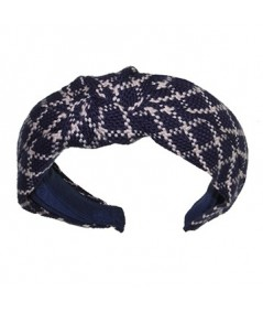 Navy Ivory Braid Turban Headband by Jennifer Ouellette