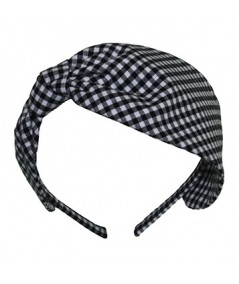Black Gingham Check Headband