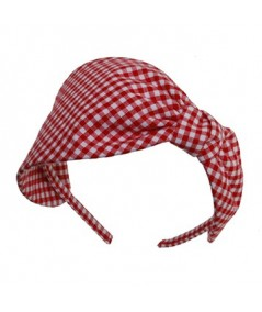 Red Gingham Check Headband
