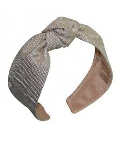 Cream italian-raffia-center-knot-turban-headband