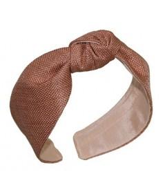 Wheat italian-raffia-center-knot-turban-headband