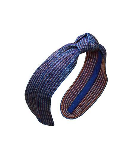 Catalan Colored Stitch Wide Center Knot Headband