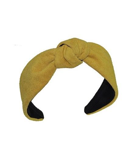 Honey suede-center-turban-headband