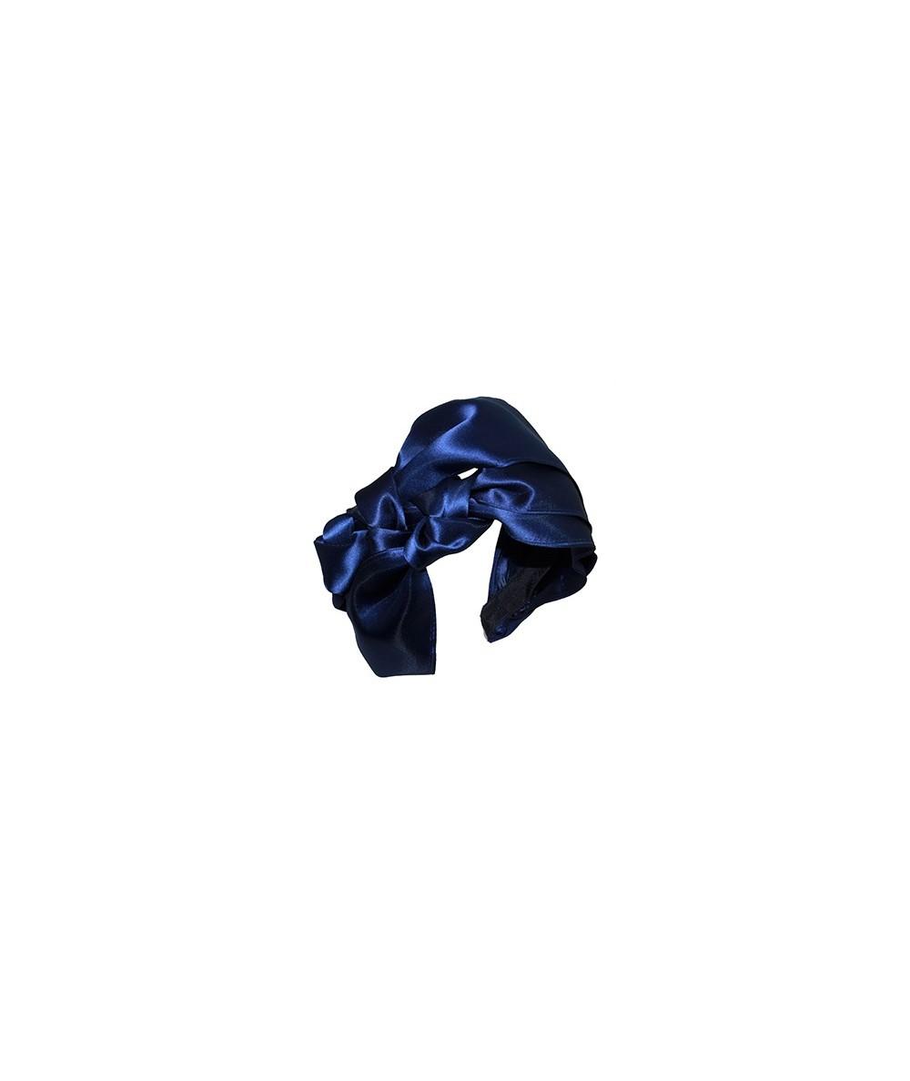 Black Sophia Satin Turban Headpiece