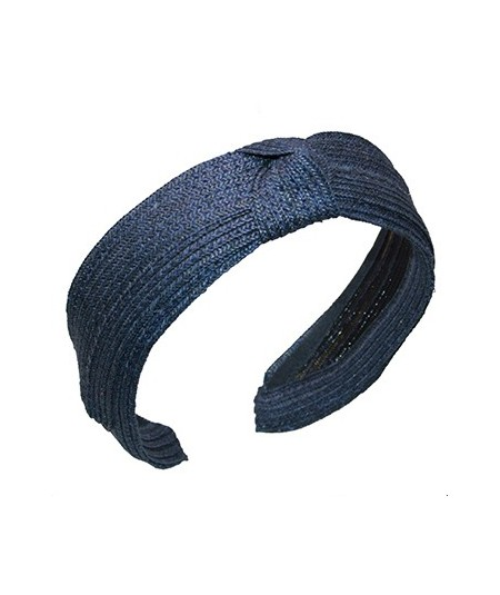 Navy toyo-straw-center-knot-turban