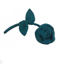 Turquoise Tonal Rose with Stem Hair Clip