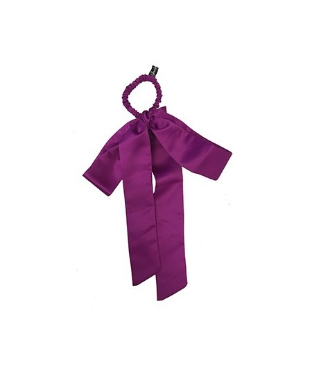Magenta Satin Detachable Large Bow Ponytail Holder