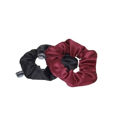Black Rouge Satin Scrunchies