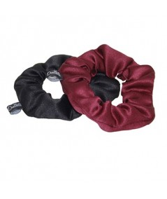 Black Rouge Satin Scrunchies