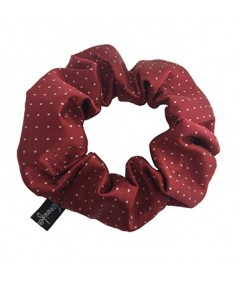 Red Dots Silk Scrunchies