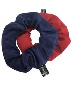 Navy - Cardinal Bengaline Scrunchies