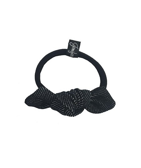 Black Denim Small Knot Hair Elastic