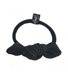 Black Denim Small Knot Hair Elastic