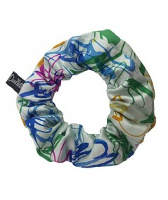 Multi Floral Silk Scrunchies